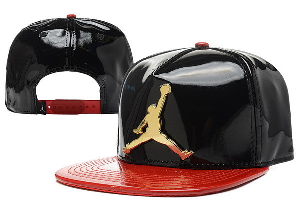 Jordan Leather Black Snapback Hat 1 XDF 0526